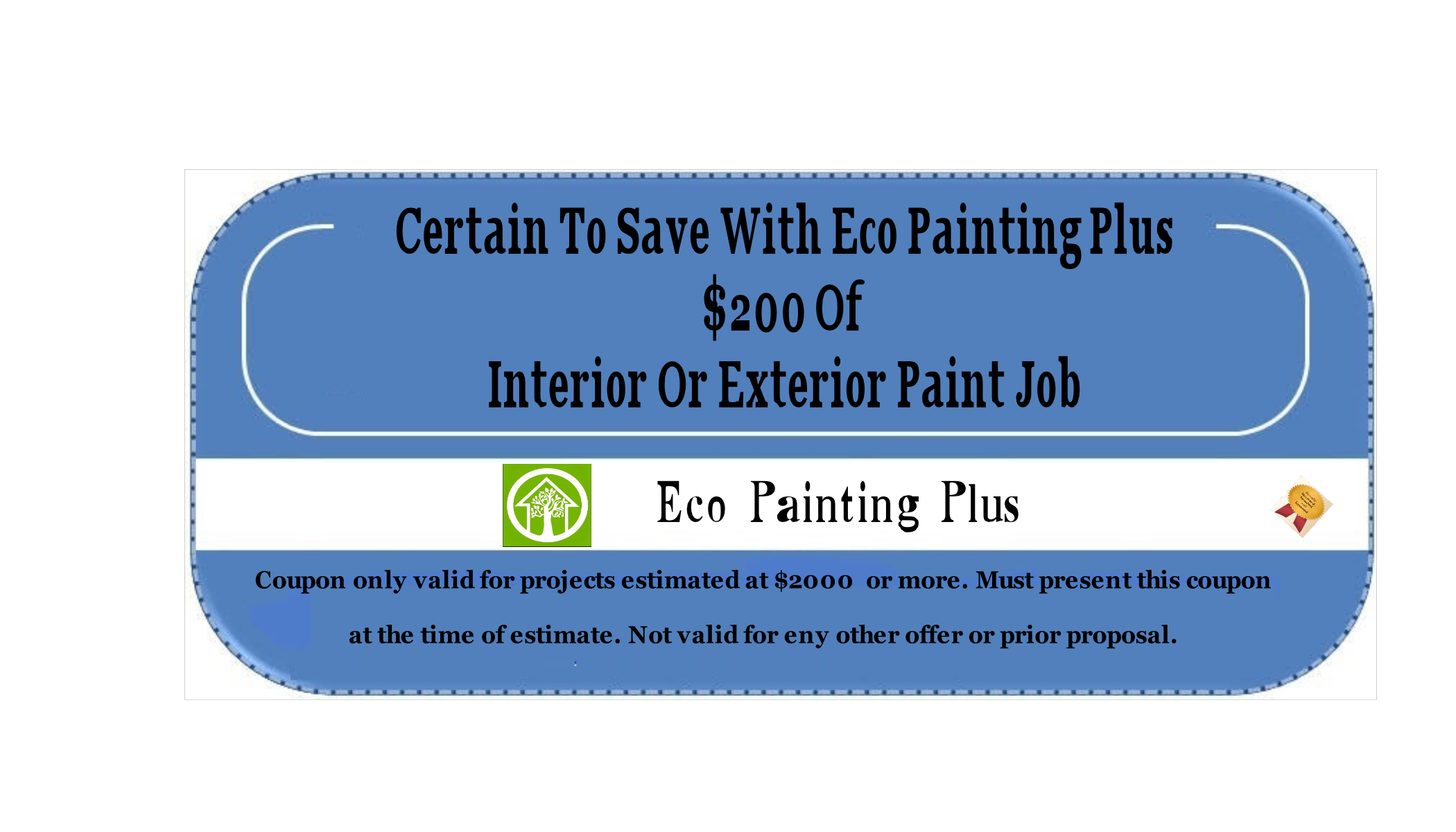 Online Specials Eco Painting Plus